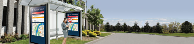 In-transit Passenger Information Display System Maximizes Convenience