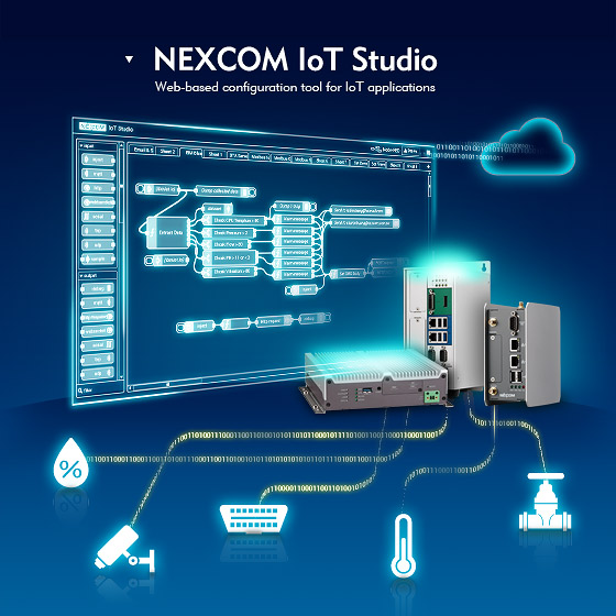 Free NEXCOM IoT Studio Bolsters IoT Innovations with Coding-free Deployment