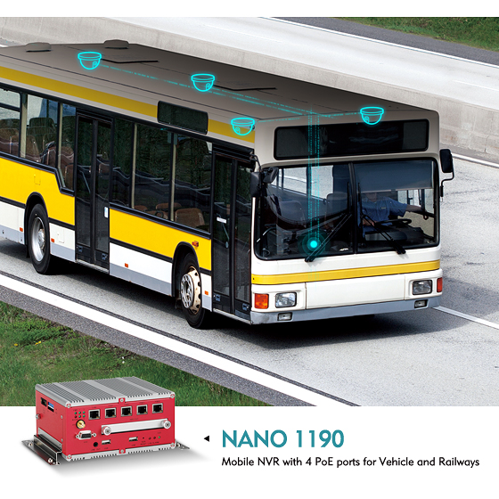 Mobile NVR NANO 1190 Constitutes a Ready-to-Use Monitoring Solution for Vehicles and Railways