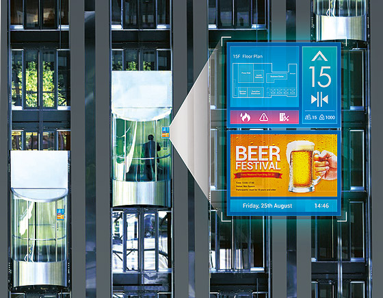 NEXCOM Digital Signage Player Sparks Elevator Rides with Enriched Experience